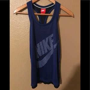 Nike workout tank top,XS, see through netting
